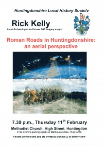 Society Lecture: Roman Roads of Huntingdonshire @ Methodist Church Huntingdon | Huntingdon | United Kingdom